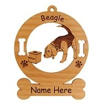1507 Beagle Scent Work Ornament Personalized with Your Dog's Name
